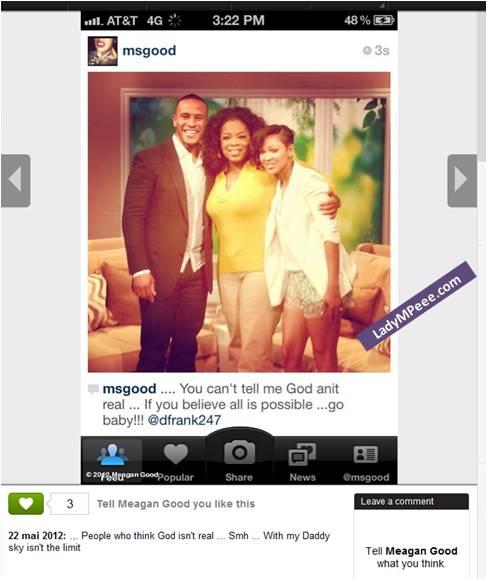 Meagen-Good et son futur mari Devon Franklin chez Oprah Winfrey