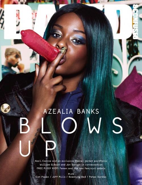 Azelia Banks en couverture du magazine Dazed & Confused