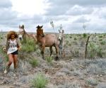 Beyonce et des chevaux au Texas