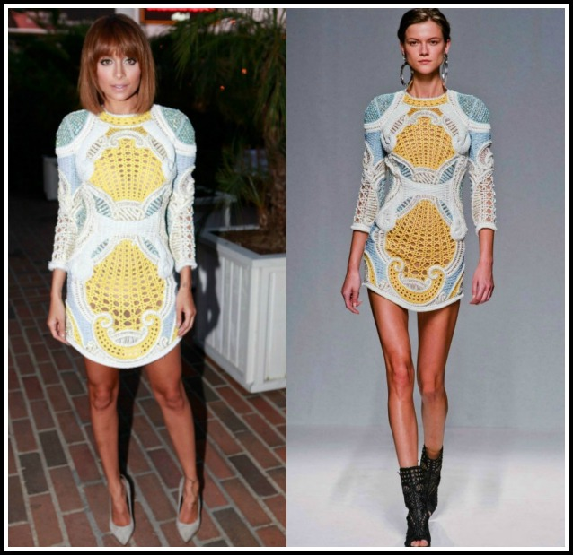 Nicole-Richie-Balmain-LA-Dinner-Embroidered-Balmain-Spring-Summer-2013-Dress-8