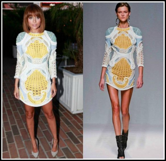 Nicole-Richie-Balmain-LA-Dinner-Embroidered-Balmain-Spring-Summer-2013-Dress-8