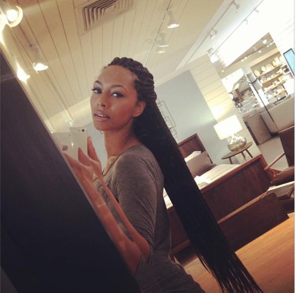 Keri Hilson box braids (nattes)