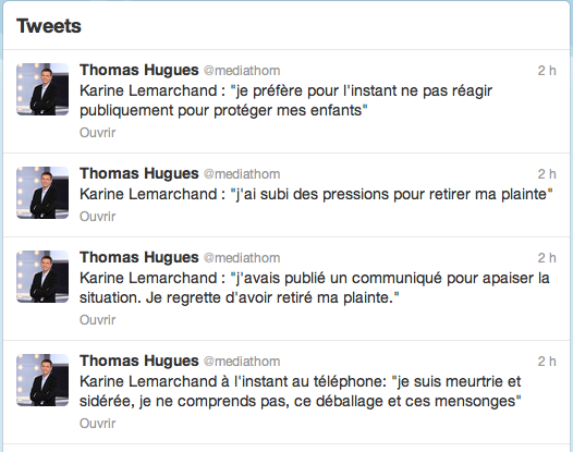 Tweets_Thomas Hugues_Karine Lemarchand