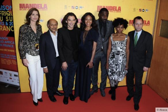 L'équipe du film à l'avant-première Mandela à l'Unesco_Ladympeee.com