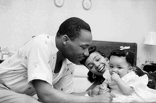 martin luther king et sa famille