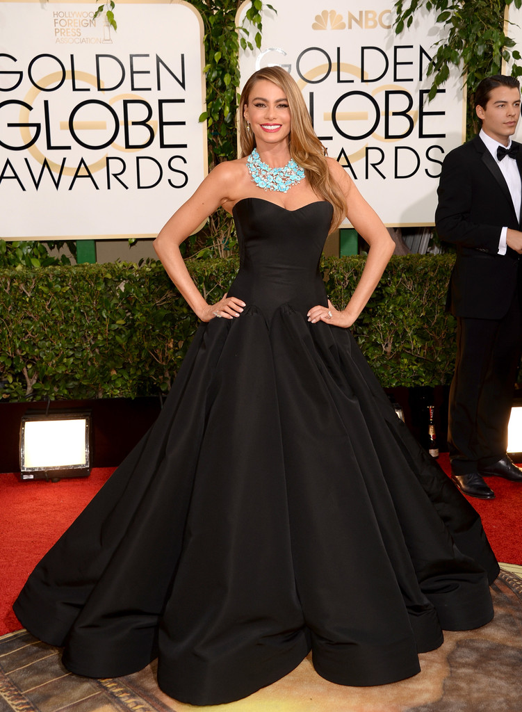 sofia-vergara-71st-annual-golden-globe-awards-zac-posen-gown