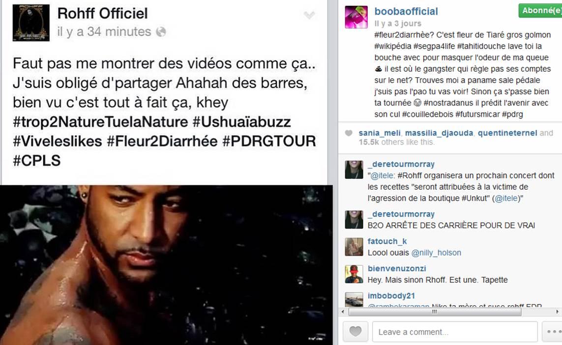 booba_Rohff_clash_instagram_une_vie