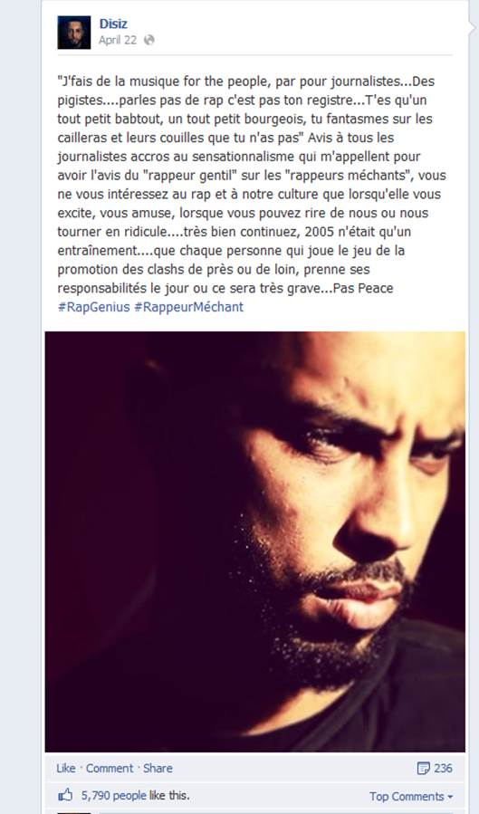 disiz_la_peste_réaction_agression_unkut_rohff_booba